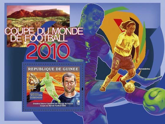 Football Prelude 2010 - Issue of Guinée postage stamps