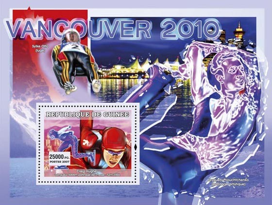 Winter Sports Prelude Vancouver 2010 - Issue of Guinée postage stamps