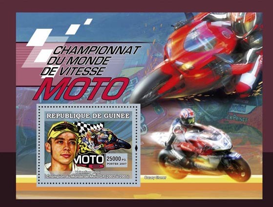 Races motos - Issue of Guinée postage stamps