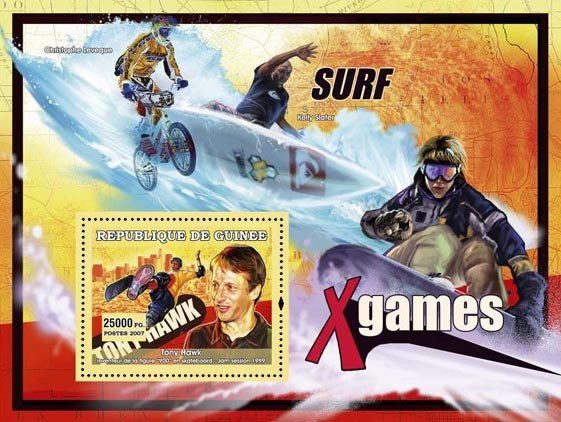 Extreme sports - Issue of Guinée postage stamps