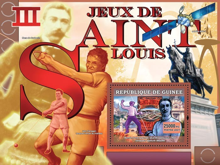 III Games Saint Louis 1904 - Issue of Guinée postage stamps