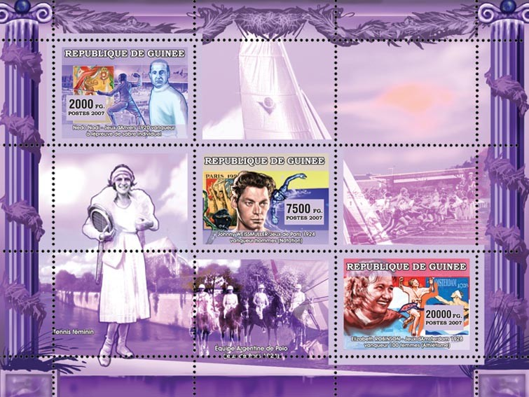 Various Sports - Issue of Guinée postage stamps