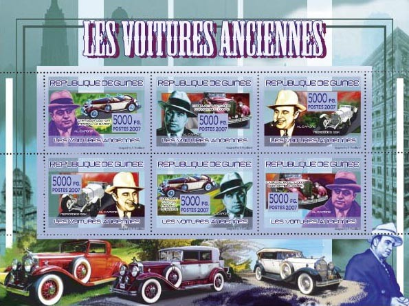 TRANSPORTS - Classic Automobiles - Issue of Guinée postage stamps