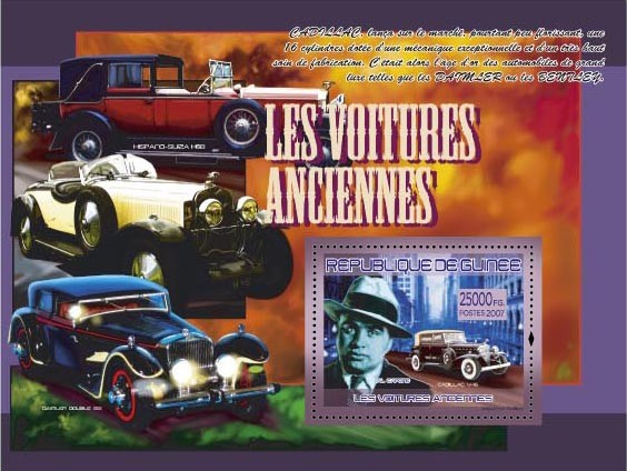 Cadillac V-16 / Al Capone - Issue of Guinée postage stamps