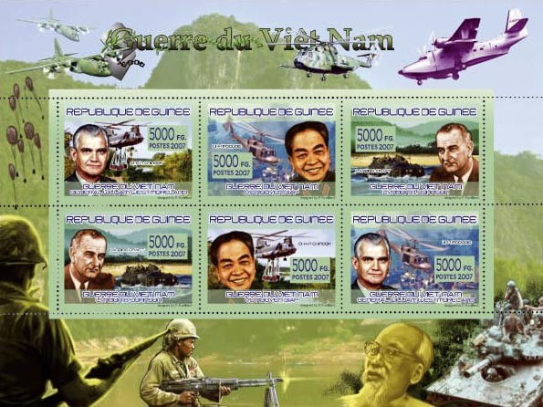 TRANSPORTS - War of Vietnam - Issue of Guinée postage stamps