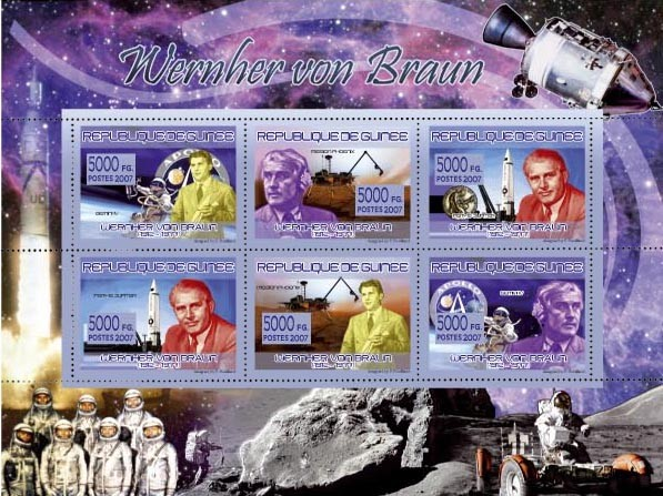 TRANSPORTS - Espace, Vernher von Braun ( 1912-1977 ) - Issue of Guinée postage stamps