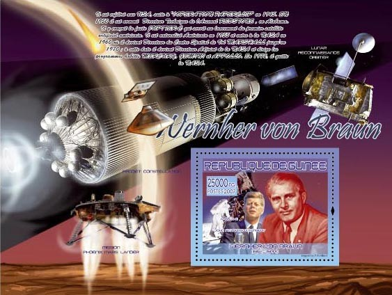 Apollo 11 ( J.F.Kennedy ) - Issue of Guinée postage stamps