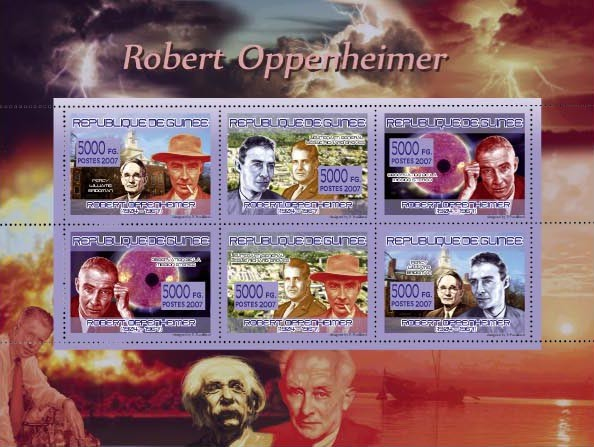 TRANSPORTS - Robert Oppenheimer (1904-1967) - Issue of Guinée postage stamps