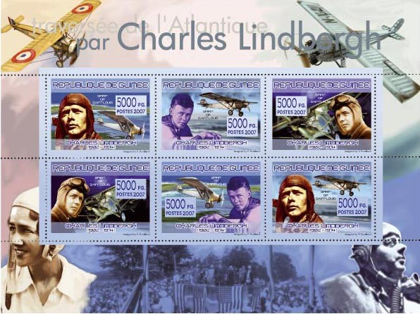 TRANSPORTS - Charles Lindbergh (1902-1974) - Issue of Guinée postage stamps