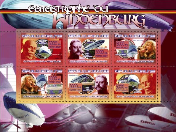TRANSPORTS - Hindenburgs Catastrophe - Issue of Guinée postage stamps