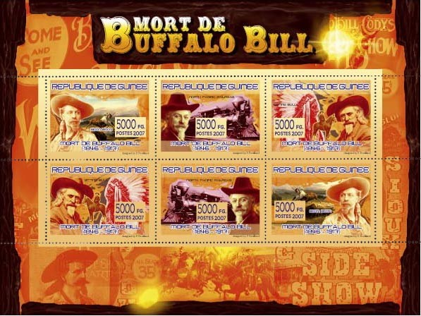 TRANSPORTS - Buffalo Bill (1846-1917) - Issue of Guinée postage stamps