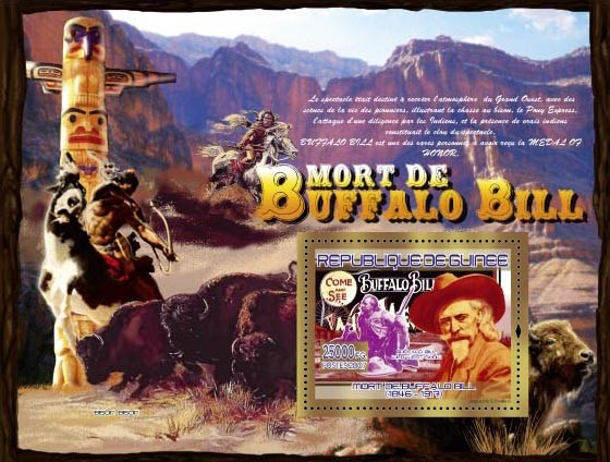 Buffalo Bill Wild West Show - Issue of Guinée postage stamps