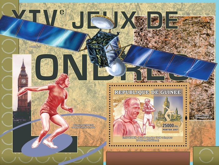 XIV Games London 1948 - Issue of Guinée postage stamps