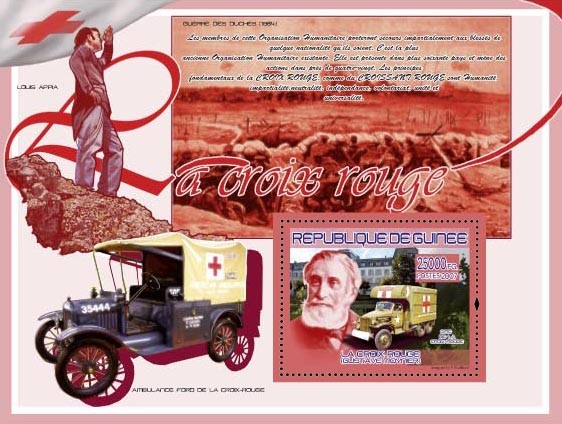 Gustave Moynier ( Ambulance Ford, Louis Appia ) - Issue of Guinée postage stamps