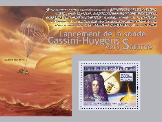 Mission Cassini - Huygens ( Huygens sur Titan ) - Issue of Guinée postage stamps