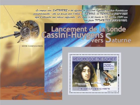 Mission Cassini - Huygens (Sonde cassini-huygens) - Issue of Guinée postage stamps
