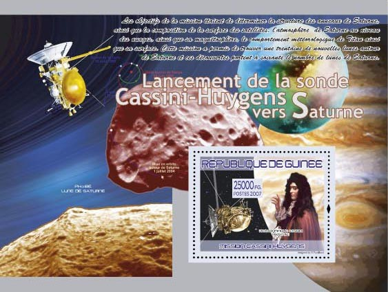 Mission Cassini - Huygens (Lune de Saturne ) - Issue of Guinée postage stamps