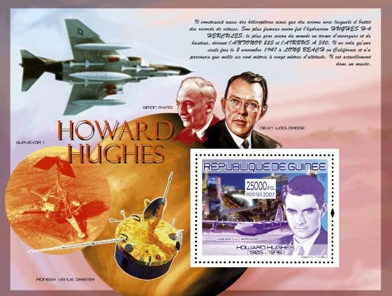 H.Huge, Hughes H-4 Hercules - Issue of Guinée postage stamps