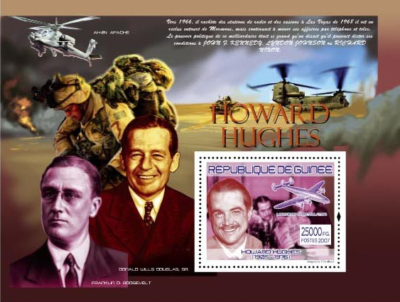 H.Huges, Lockheed Constellation - Issue of Guinée postage stamps
