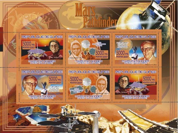 TRANSPORTS - Mars Pathfinder - Issue of Guinée postage stamps