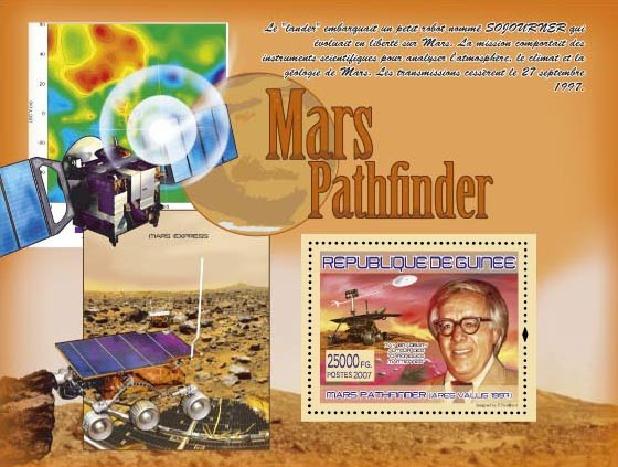 Ares Vallus 1997 , Ray Bradbury - Issue of Guinée postage stamps