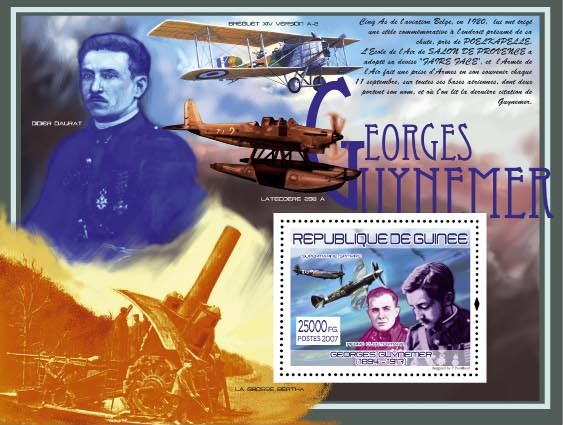 G.Guynemer, Supermarine Spitfire - Issue of Guinée postage stamps