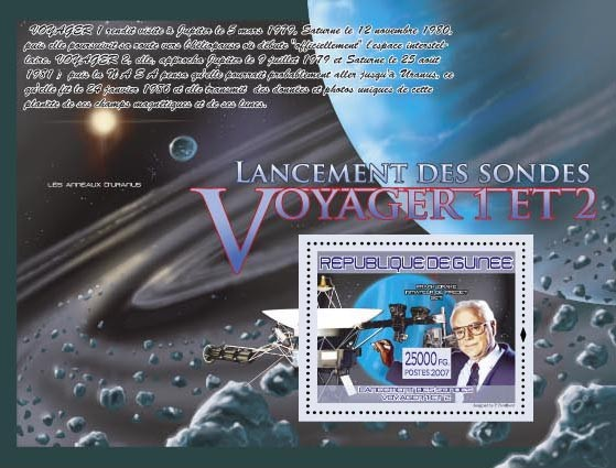 Voyager 1 & 2 ( Frank Drake, Satellite) - Issue of Guinée postage stamps