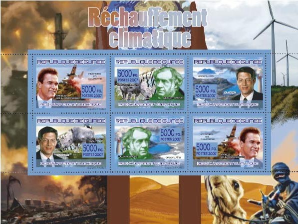 TRANSPORTS - Thaw of Climate - Issue of Guinée postage stamps