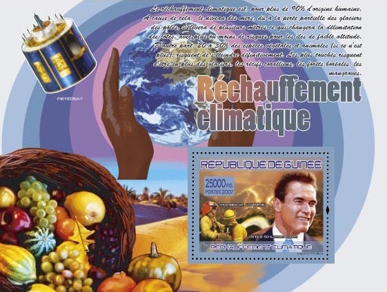 A.Schhwarzeneger (Meteosat) - Issue of Guinée postage stamps