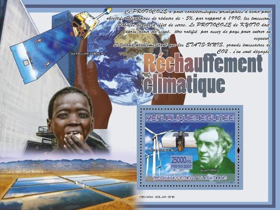 William Grove (Satelite Goes 2) - Issue of Guinée postage stamps