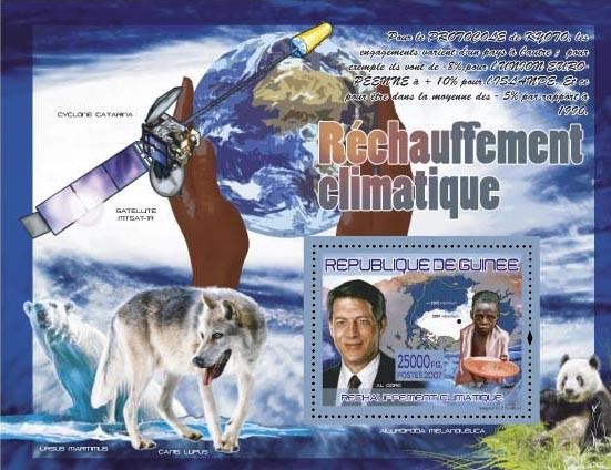 Al Gore (Satellite MTSAT-1R,) - Issue of Guinée postage stamps