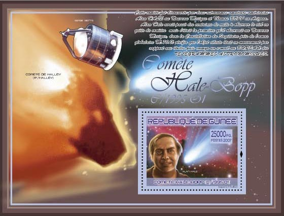 Alan Hale ( Comet Halley, Sonde Giotto) - Issue of Guinée postage stamps