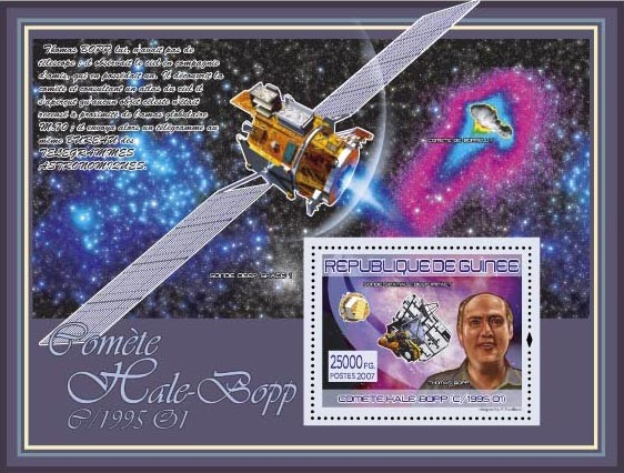Thomas Bopp, ( Satellite Deep Impact) - Issue of Guinée postage stamps