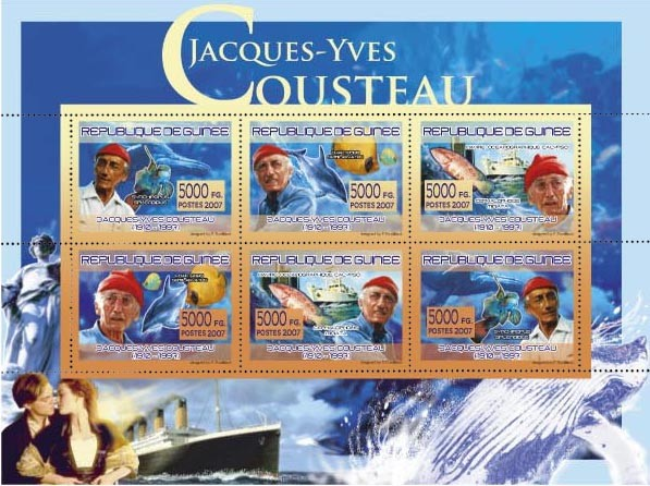 TRANSPORTS - Jacques -Yvies Cousteau - Issue of Guinée postage stamps