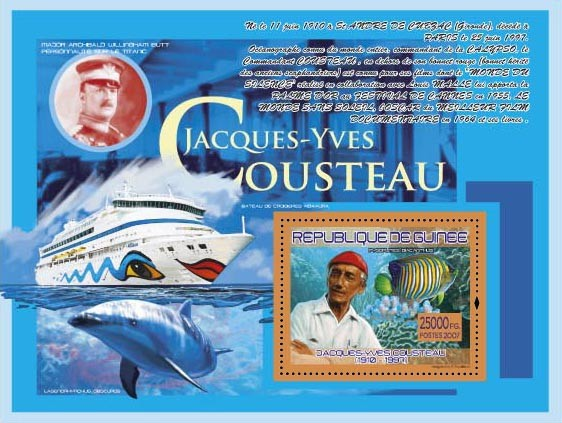 J.Y.Cousteau ( Ship Cruise Aida Aura, Fauna ) - Issue of Guinée postage stamps