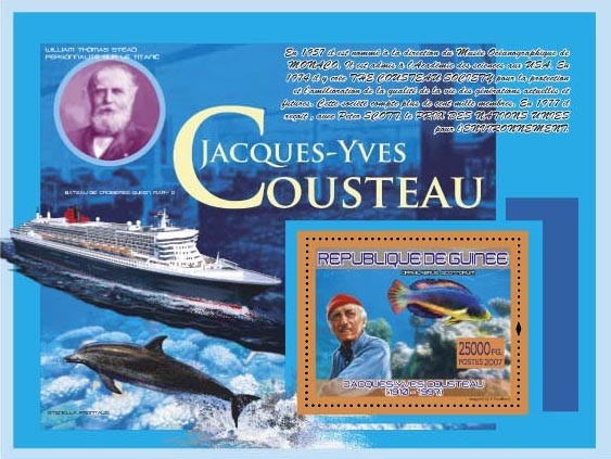 J.Y.Cousteau ( Ship Cruise Queen Mary 2, Fauna) - Issue of Guinée postage stamps