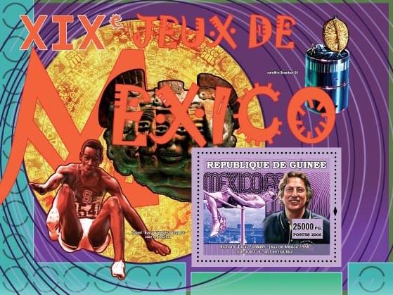 XIX Games Mexico 1968 - Issue of Guinée postage stamps