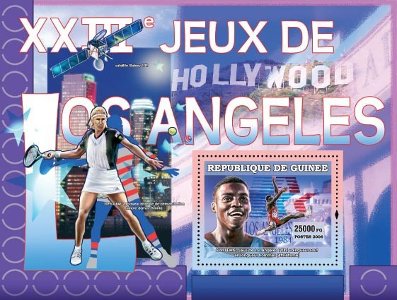 XXIII Games Los Angeles 1984 - Issue of Guinée postage stamps