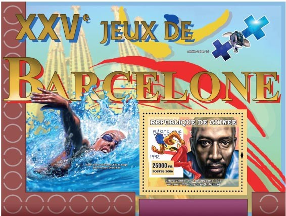 XXV Games Barcelone 1992 - Issue of Guinée postage stamps