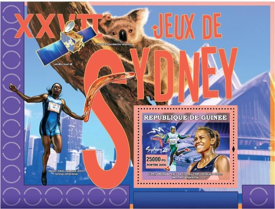 XXVII Games Sydney 2000 - Issue of Guinée postage stamps