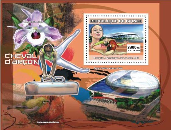 Pommel horse (cheval dar?ᄃon) - Issue of Guinée postage stamps