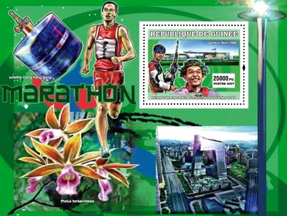 Sports / Orchids / Butterflies - Issue of Guinée postage stamps