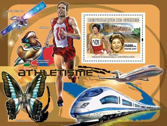Sports / Trains / Butterflies - Issue of Guinée postage stamps