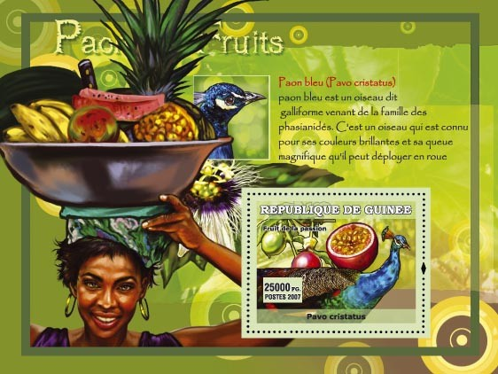 Paon bleu / Pavo Cristatus - Issue of Guinée postage stamps