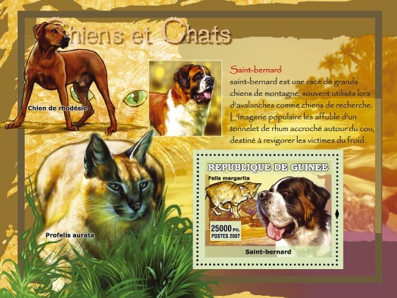 Saint-bernard / St. Bernard - Issue of Guinée postage stamps