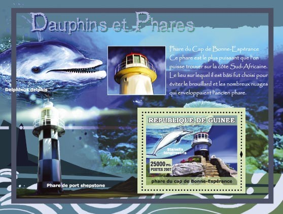 Delphinus delphis / Pharede port shepstone - Issue of Guinée postage stamps