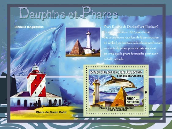 Stenella Longlrostris / Phare de Green Point - Issue of Guinée postage stamps