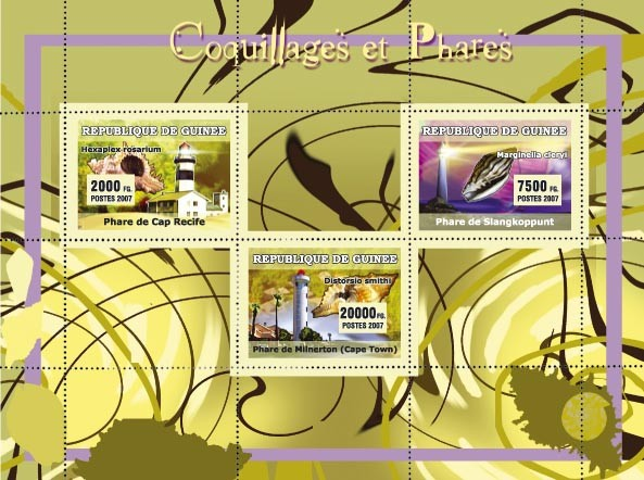 Coquillages et Phares / Shells and Lighthouses - Issue of Guinée postage stamps