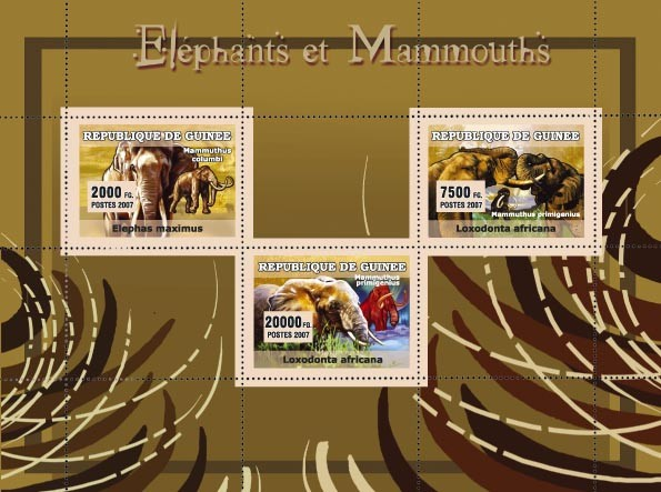 Elephants et Mammouths - Issue of Guinée postage stamps
