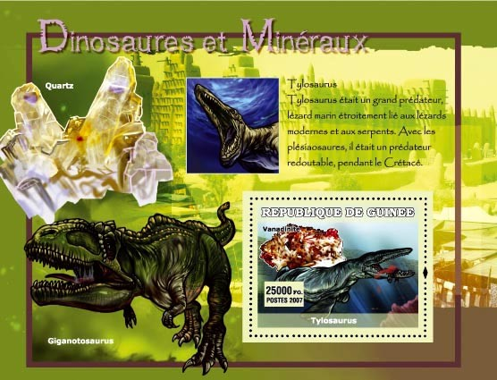 Tylosaurus - Issue of Guinée postage stamps